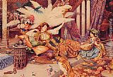 Guiseppe Signorini In the Harem painting