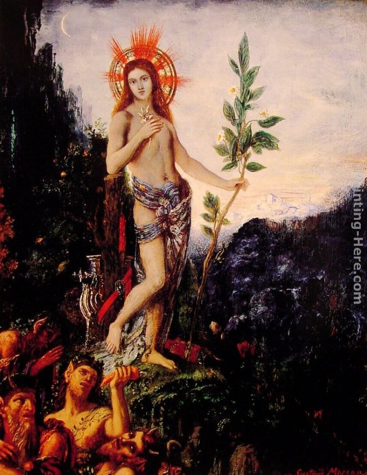 Gustave Moreau Apollo and the Satyrs