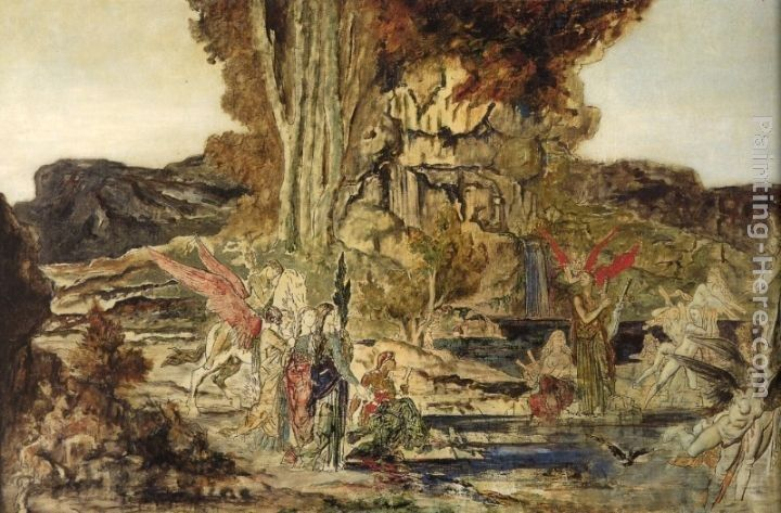 Gustave Moreau The Pierides