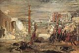 Gustave Moreau Death Offers Crowns to the Winner of the Tournament painting