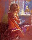 Hazel Soan Private Moments IV painting