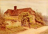 Helen Mary Elizabeth Allingham A Berkshire Cottage painting