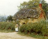 Helen Mary Elizabeth Allingham A Cottage With Sunflowers At Peaslake painting