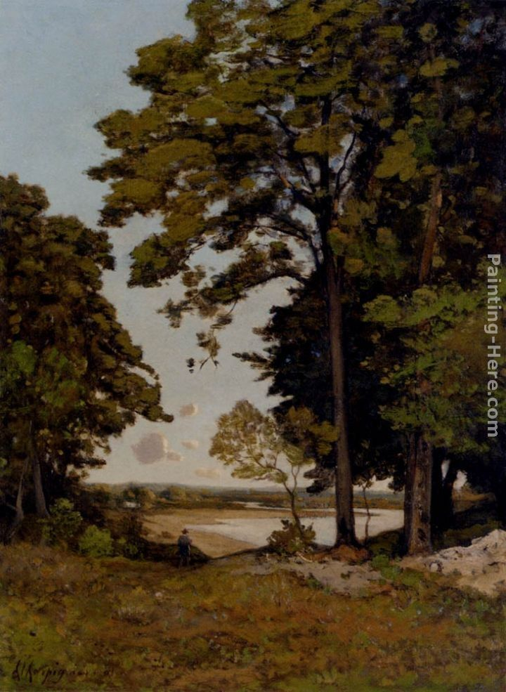 Henri-Joseph Harpignies A Summer's Day On The Banks Of The Allier