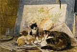 A Cat and her Kittens in the Artists Studio