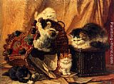 Henriette Ronner-Knip The Turned Over Waste-paper Basket painting