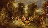 Henry Andrews The Garden Party painting