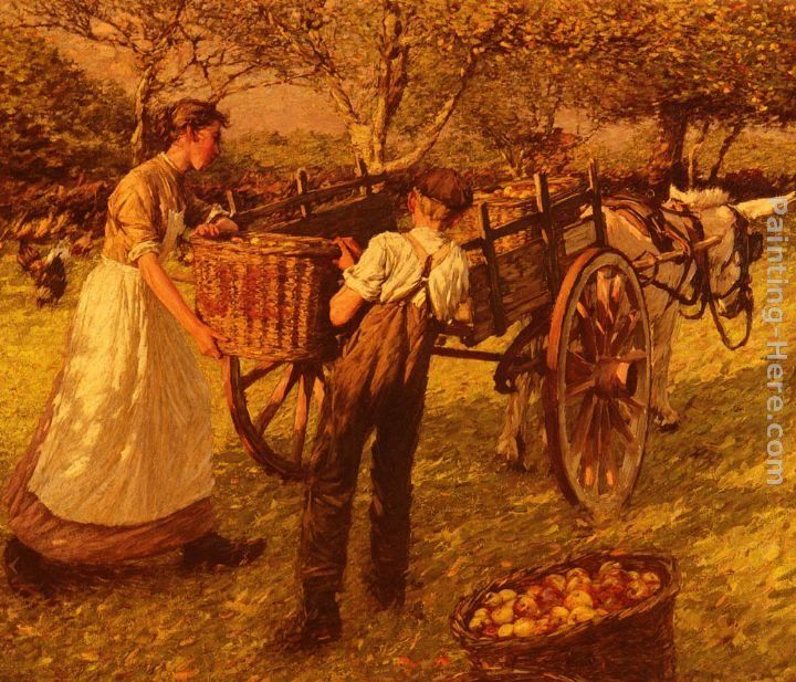 Henry Herbert La Thangue A Sussex Orchard