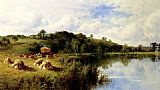 Henry Hillier Parker The Thames At Streatley, Oxfordshire painting