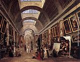 Hubert Robert Design for the Grande Galerie in the Louvre painting