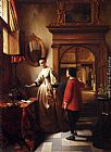 Hubertus van Hove The Guest's Arrival painting