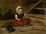 Hugo Oehmichen Childhood painting