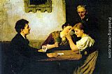 Hugo Oehmichen The Card Game painting