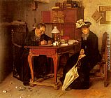 Isidor Kaufmann A Business Transaction painting