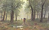 Ivan Shishkin Rain in the Oak Grove painting