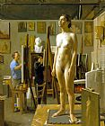 Jacob Collins In the Atelier painting