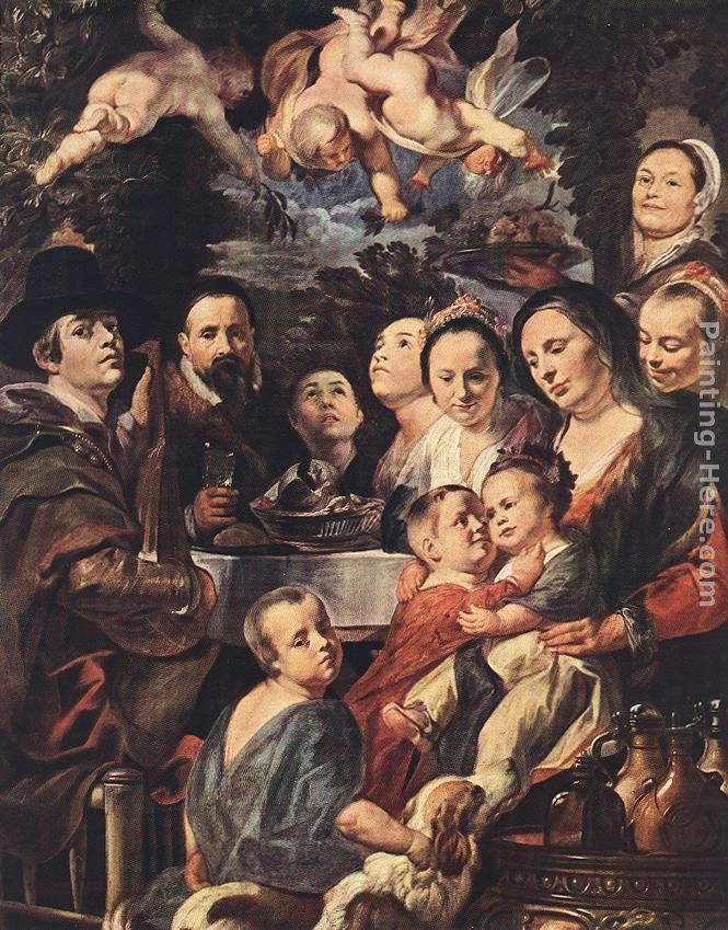 Jacob Jordaens Self Portrait among Parents, Brothers and Sisters