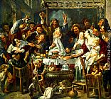 Jacob Jordaens The King Drinks painting