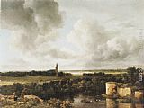 Jacob van Ruisdael Landscape with Church and Ruined Castle painting