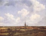 Jacob van Ruisdael Landscape with Church and Village painting