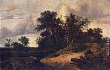 Jacob van Ruisdael Landscape with a House in the Grove painting