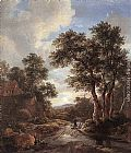 Jacob van Ruisdael Sunrise in a Wood painting
