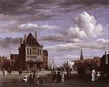 Jacob van Ruisdael The Dam Square in Amsterdam painting