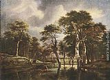 Jacob van Ruisdael The Hunt painting