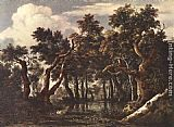 Jacob van Ruisdael The Marsh in a Forest painting