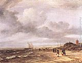 Jacob van Ruisdael The Shore at Egmond-an-Zee painting