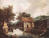 Jacob van Ruisdael Two Watermills and an Open Sluice near Singraven painting