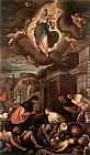 Jacopo Bassano St Roche among the Plague Victims and the Madonna in Glory painting