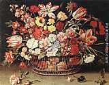 Jacques Linard Basket of Flowers painting