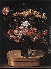 Jacques Linard Bouquet on Wooden Box painting