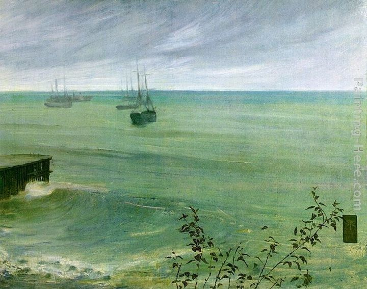 James Abbott McNeill Whistler Symphony in Grey and Green The Ocean