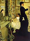 James Abbott McNeill Whistler Harmony in Green and Rose The Music Room painting