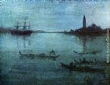 James Abbott McNeill Whistler Nocturne in Blue and Silver The Lagoon, Venice painting
