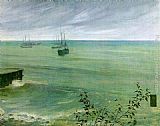 James Abbott McNeill Whistler Symphony in Grey and Green The Ocean painting
