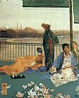 James Abbott McNeill Whistler Variations in Flesh Colour and Green The Balcony painting