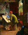 James Collinson The Writing Lesson painting