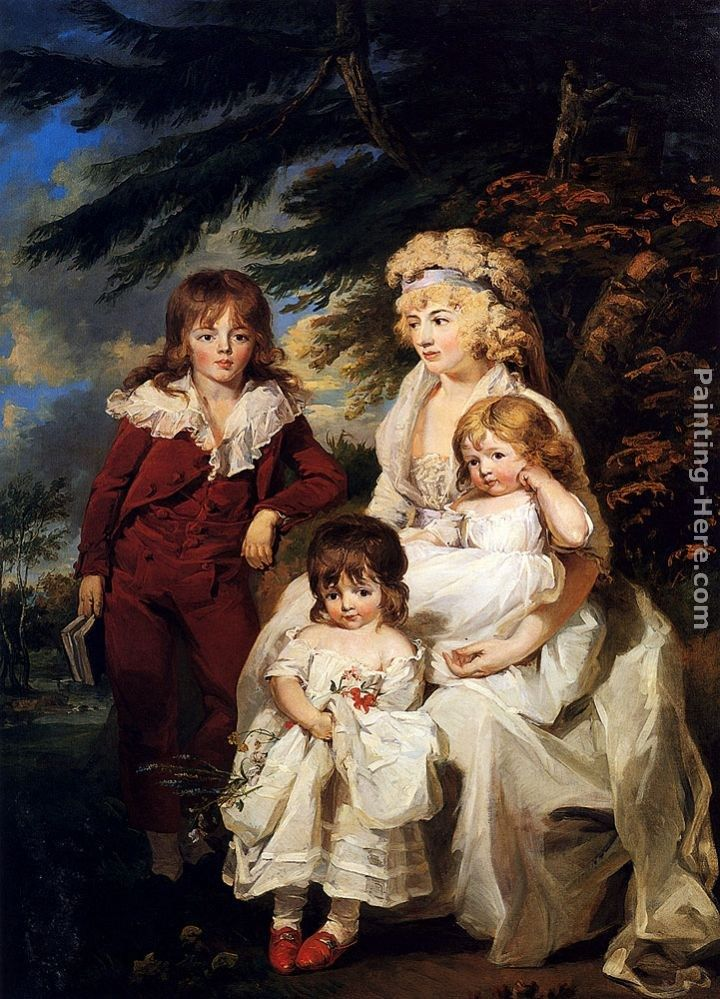 James Ward Portrait Of The Hon. Juliana Talbot, Mrs Michael Bryan (1759-1801), With Her Children Henry, Maria And Elizabeth
