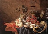Jan Davidsz de Heem Fruit and Seafood painting