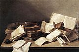 Jan Davidsz de Heem Still-Life of Books painting