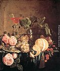 Jan Davidsz de Heem Still-Life with Flowers and Fruit painting