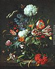 Jan Davidsz de Heem Vase of Flowers painting