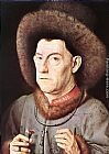 Jan van Eyck Portrait of a Man with Carnation painting