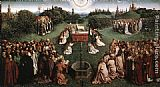 Jan van Eyck The Ghent Altarpiece Adoration of the Lamb painting