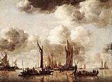 Jan van de Capelle Dutch Yacht Firing a Salvo painting