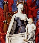 Jean Fouquet Madonna And Child (panel of Melun Diptych) painting