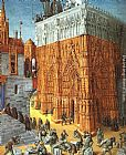 Jean Fouquet The Building of a Cathedral painting